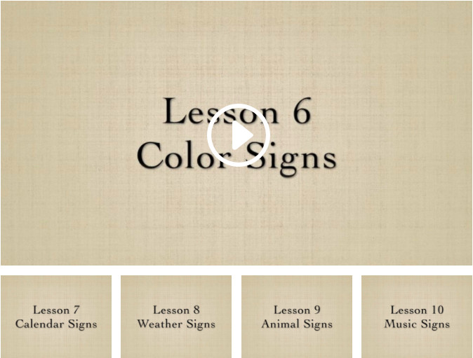 Functional Sign Language for Music Therapists | Lessons 6-10